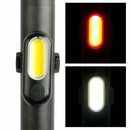 XANES® TL41 COB USB recargable 5 modos Impermeable Luz trasera de bicicleta Luz de advertencia ultraligera