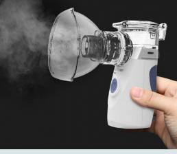 Nebulizador ultrasónico portátil de mano de bajo residuo líquido atomizador doméstico inhalador de asma ultrasónico nieb