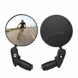 WEST BIKING Espejo retrovisor de bicicleta Rotación de 360 ° Gran angular ajustable Ciclismo Vista trasera MTB Bicicleta