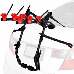 BIKIGHT Coche Soporte trasero para bicicleta Compatible con 3 bicicletas Universal Cocherier Tronco de bicicleta apto pa