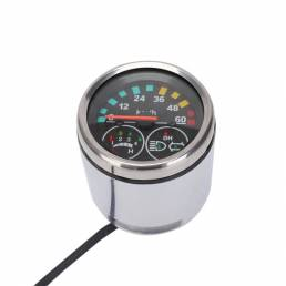 Bicicleta eléctrica 24 V / 36 V LED Odómetro Velocímetro Indicador de calibre Tipo Pantalla Bicicleta eléctrica Moto Kit