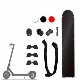 Accesorios modificados de arranque rojo / negro / blanco de 7 piezas para scooter eléctrico M365 / M187 / Pro