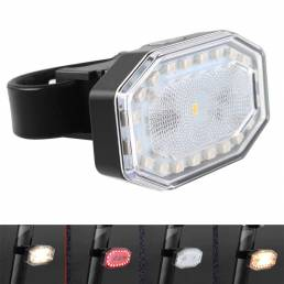XANES® TL37 250mAh COB Luz cálida + luz roja 4 modos USB recargable LED Luz trasera de bicicleta al aire libre Ciclismo