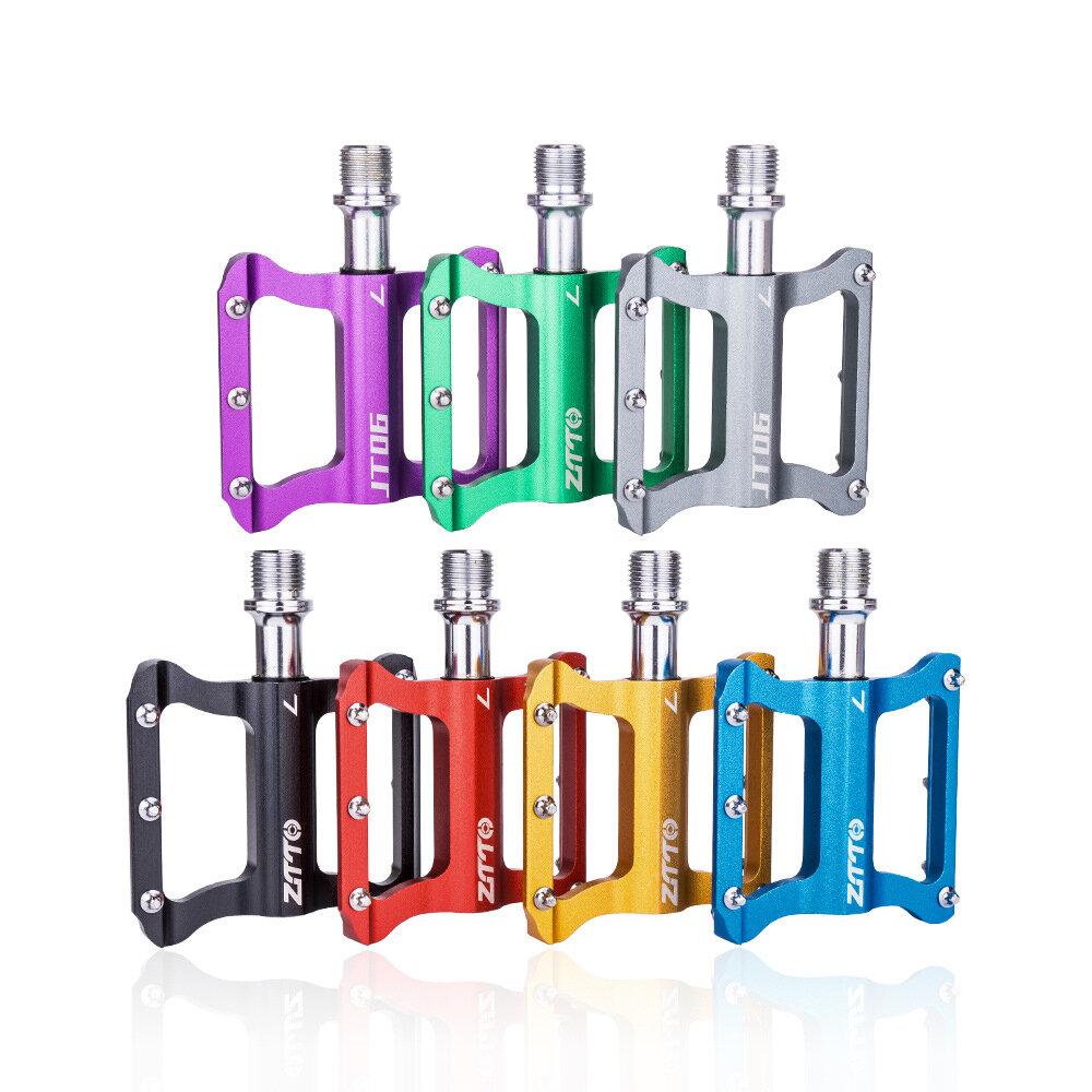 ZTTO JT06 aleación de aluminio Colorful ultraligero antideslizante duradero 1 par de pedales de bicicleta pedales de bic