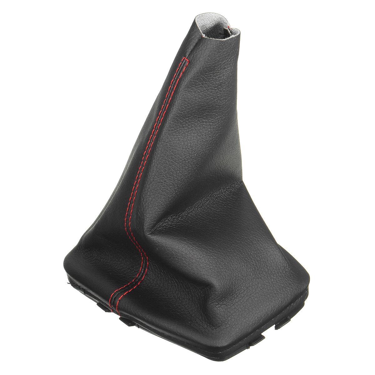Engranaje de cuero negro Palo Palanca de cambio Perilla Polaina Cubierta antipolvo para VW Golf Bora