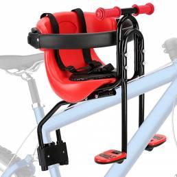 BIKIGHT Asiento de bebé para bicicleta Asiento de montaje delantero para niños Sillín para portabicicletas con pasamanos