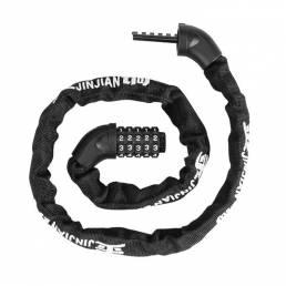 BIKIGHT Espesar Diámetro Aleación de zinc Código antirrobo Cadena de contraseña cerradura Seguridad portátil sin llave c