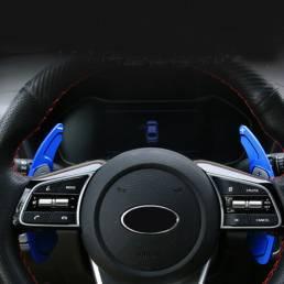 Cubierta de la palanca de cambios de la extensión de la paleta del volante del coche para Kia K3 CEED CD