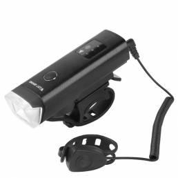 Luz delantera de bicicleta XANES® XL40 2 en 1 650 LM con bocina de 120dB USB recargable 5 modos Impermeable Luz de adver