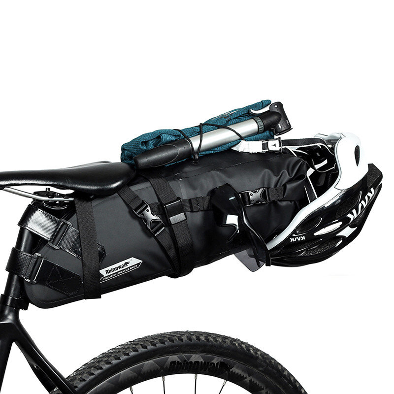 Sillín de bicicleta Rhinowalk 5/10 / 13L Bolsa Impermeable Cola de bicicleta trasera Bolsa Alforja reflectante para male
