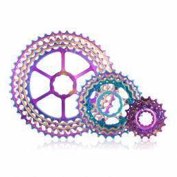 ZTTO CNC 11 velocidades 11-46T Cassette cambio de bicicleta desviador trasero Colorful MTB bicicleta de montaña rueda li