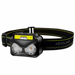 SKYWOLFEYE K19 200lm Inducción LED Linterna frontal LED + COB Linterna súper brillante ajustable 180 ° recargable Luz de
