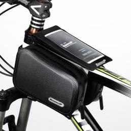 Hard Caso Tubo de bicicleta Bolsa Pantalla táctil del teléfono Sillín superior Bolsa Marco frontal Bolsa al aire libre C