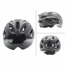 BIKIGHT Casco de bicicleta de carretera Casco de bicicleta de montaña Transpirable Seguridad para montar con visera TT L