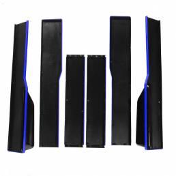 2.2M / 78.7inch Par de faldones laterales universales Extensiones Splitters Blue Line