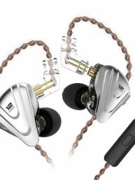 [12 controladores] KZ ZSX 5BA + 1DD Auricular Terminator HiFi DJ Monitor Super Bass Auriculares estéreo con cable de 3