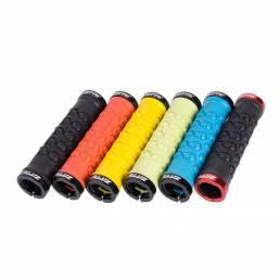 ZTTO AG23 Aleación de aluminio Bloqueo bilateral Mangas de agarre de colores Cabeza de calavera Cubierta de bicicleta Cu