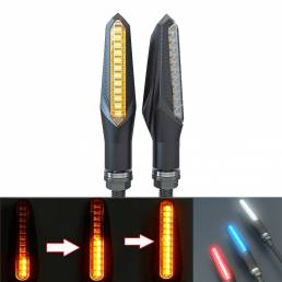 BIKIGHT 2 piezas 12V Bicicleta eléctrica LED Luz de advertencia Ciclismo Moto Indicadores Señal de giro de flujo delante