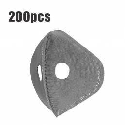 200 piezas de 5 capas de ciclismo Mascara Reemplazo de filtro Anti Polvo PM2.5 Filtro de carbón activado para bicicleta