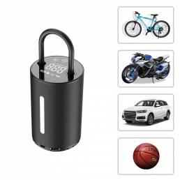 BIKIGHT 150PSI Bomba de bicicleta inteligente ajustable LCD Bomba de inflado eléctrica de presión de neumáticos digital