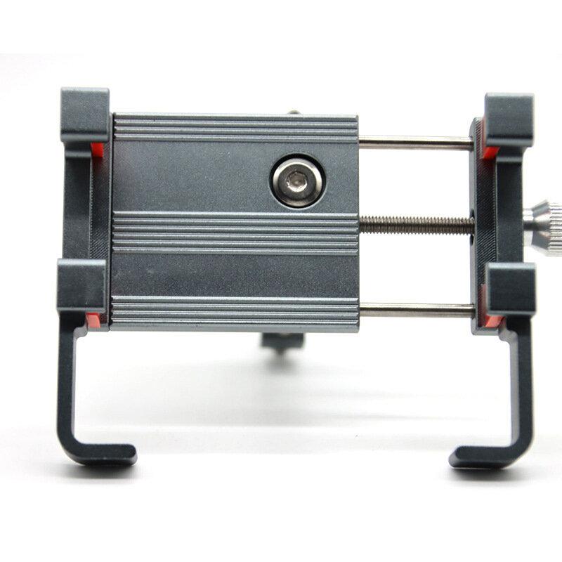 Soporte para teléfono de bicicleta BIKIGHT 66-100mm de ancho ajustable rotación de 360 ° Anti Soporte de teléfono para m