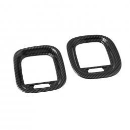 Kit de ajuste de salida de CA de cubierta de ventilación de aire de fibra de carbono de 2 piezas para Dodge Charger 2015