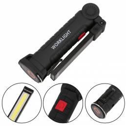 200LM COB + Linterna LED Bicicleta Ciclismo 3 modos Luz de trabajo recargable USB Emergencia Lámpara