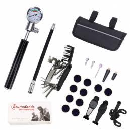 BIKIGHT 26 en 1 Kit de herramientas de reparación de bicicletas Llave de bomba de neumático de pinchazo de bicicleta de