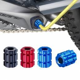 YIQUAN aleación de aluminio Llave removedor de cubierta de manivela de bicicleta hueca reparación de instalación herrami