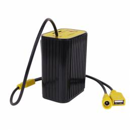 XANES® 6x18650 Batería Paquete Caso 5V Banco de energía Caja Luces de bicicleta de 8.4 V Batería Almacenamiento Caja Imp