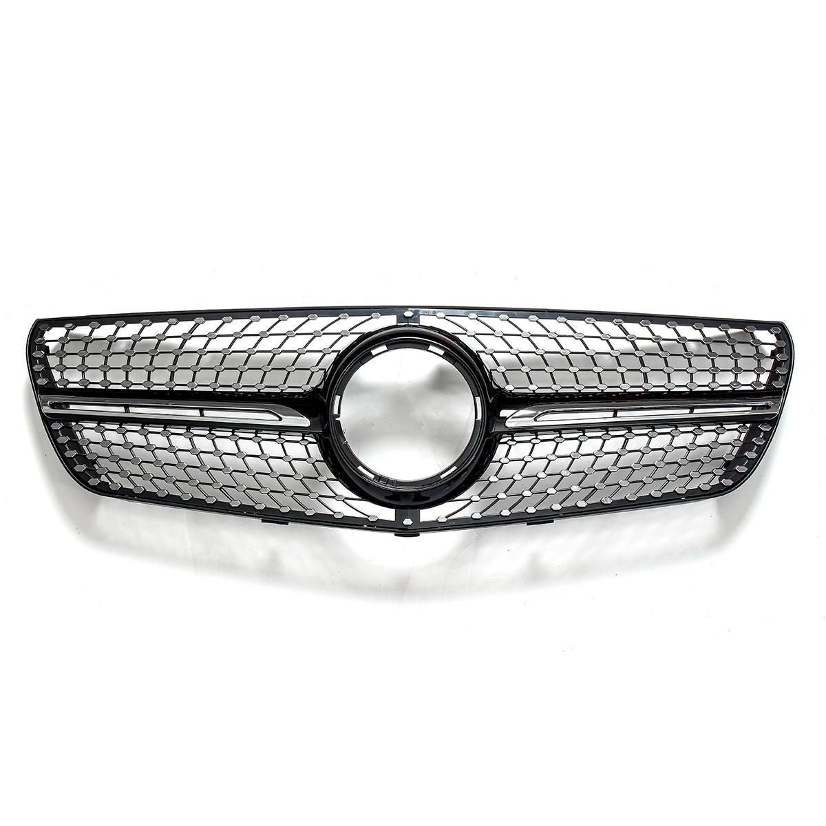 Diamond Style Coche Parrilla delantera Parrilla de parrilla de parachoques para Mercedes Benz Vito 2015-2018
