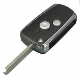 Cáscara de la llave del tirón de 2 botones de control remoto negro para Honda CRV cívica acuerdo jazz odisea