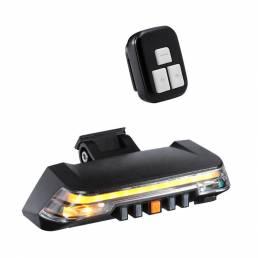 Luz trasera de bicicleta BIKIGHT Luz de freno de señal de giro inalámbrica Control remoto 8 modos Advertencia de segurid