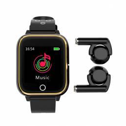 M6 3 en 1 Smart Watch TWS bluetooth Auricular 1.4 pulgadas Reloj multifunción Reproductor de MP3 Smart Banda con micrófo