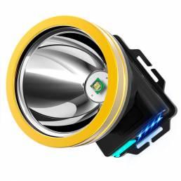 1100LM USB recargable inductivo LED faro Banco de energía de emergencia Linterna de cabeza súper brillante Linternas cám