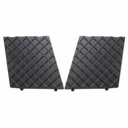 2 uds cubierta de ajuste de parrilla de malla inferior de parachoques delantero izquierda y derecha para BMW E60 E61M