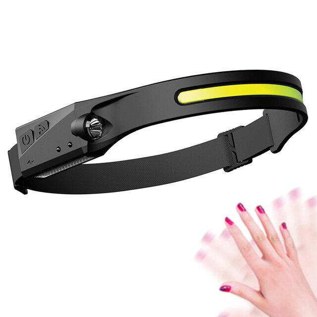 350lm 10W COB XPE faro Impermeable 4 modos USB recargable pesca Linterna de inducción Ciclismo nocturno Advertencia de f