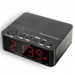 LEADSTAR Alarma inalámbrica Reloj Mini altavoz bluetooth con reproducción de tarjetas FM Radio