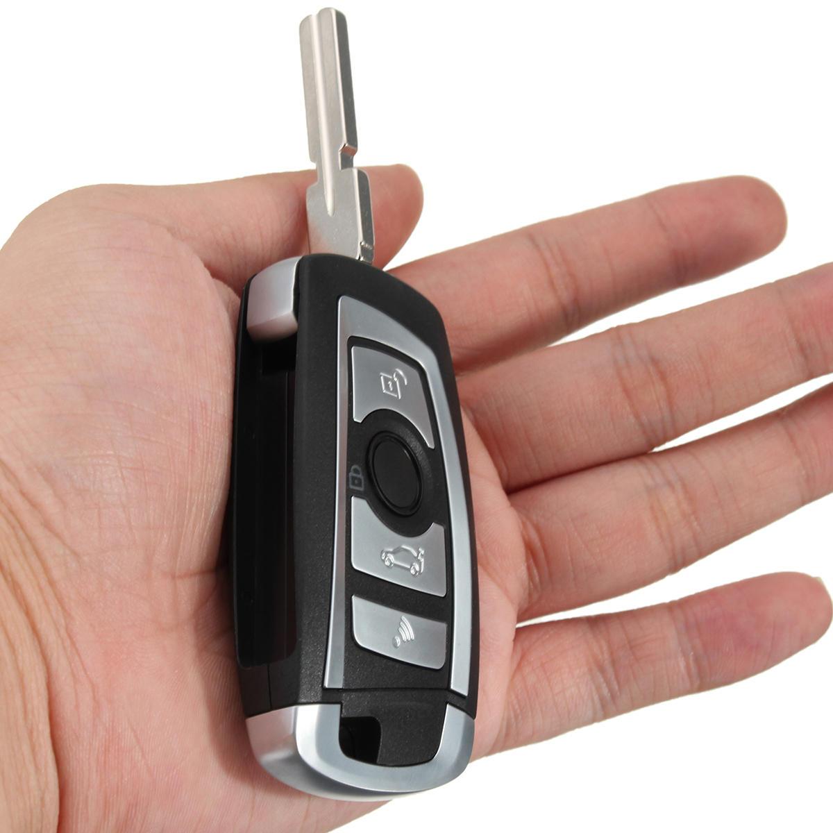 4 Botones 433MHZ Floding modificado Control remoto Clave sin chip 7935AA ID44 para BMW