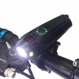 4 modos 300 lúmenes T6 LED Luz delantera de bicicleta Impermeable Faro recargable USB para bicicleta Ciclismo nocturno L