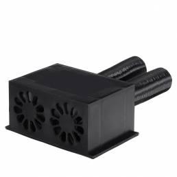 600W Coche Calentador Ventilador desempañador de calefacción con 2 mangueras extensibles para vehículos de 12V / 24V