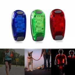 5 LED Luz para correr Ciclismo nocturno Luz de seguridad Luz trasera para bicicleta Cascos Clip Lámpara Luz de brazo súp