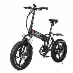 LAOTIE® FT5 Neumático grueso de 20 pulgadas 48V 10Ah 500W Bicicleta eléctrica plegable con ciclomotor 35 km / h Velocida