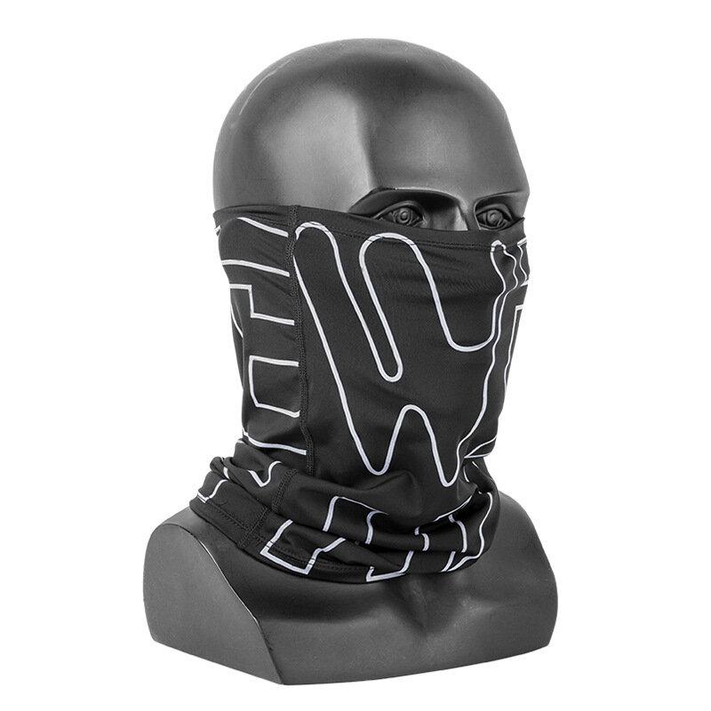 WEST BIKING Ice Silk Sun Protection Face Mascara Bicicleta transpirable Mascara con fuerte elasticidad