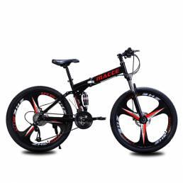 MACCE 26 Inch Bicicleta de montaña para adultos de 27 velocidades MTB Freno de disco plegable Absorción de golpes Bicicl