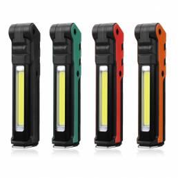 ESEN107 LED COB USB 18650 Li-ion Batería Recargable Plegable Mantenimiento Antorcha Linterna de trabajo Banco de energía