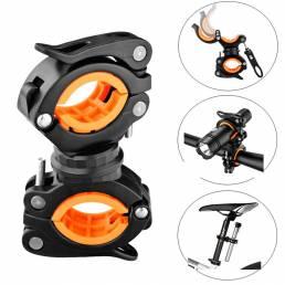 360 ° rotación bicicleta luz montaje linterna muleta Palo caña agarre soporte Abrazadera soporte para bicicleta eléctric
