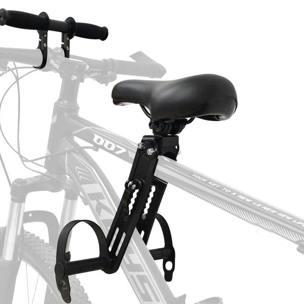 BIKIGHT Asiento para niños + manillar Asientos de bicicleta montados en la parte delantera Piezas de sillín para niños d