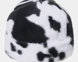 Vaca de algodón unisex Patrón Casual al aire libre Esquí cálido Sombrero Gorro sin ala