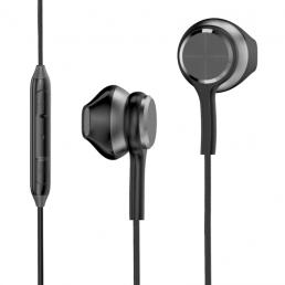 KIVEE MT18 3.5mm Control con cable en la oreja Auriculares HD Voz Hifi Calidad de sonido Auricular